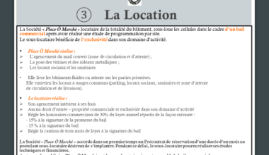 principe de la location